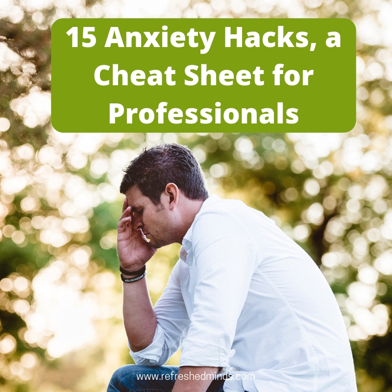 Blog - 15 Anxiety Hacks, A Cheat Sheet for Professionals